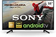 "Smart TV Sony 55"" LED 4K HDR Android XBR-55X805G, Compatível com"