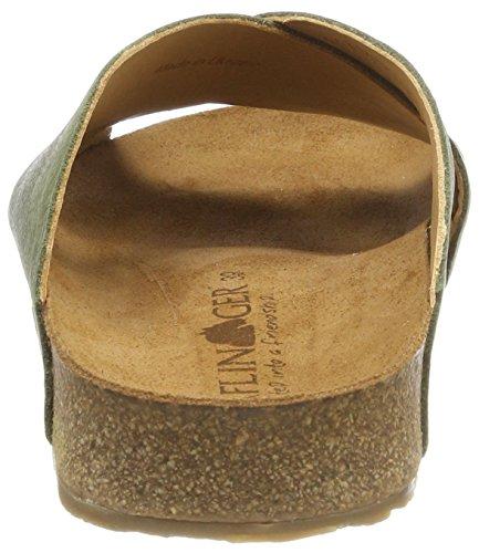 Haflinger Unisex-Erwachsene Mio Pantoletten Grün (Khaki)