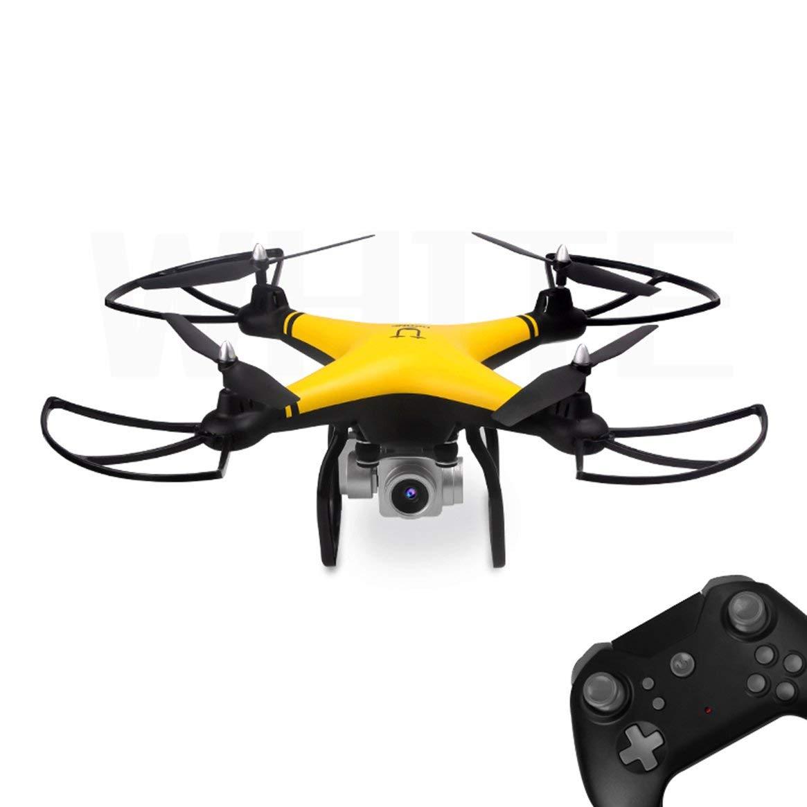 Delicacydex 69608 2,4 G RC Selfie Smart Drohne FPV Quadcopter-Flugzeuge mit 0.3MP HD-Kamera Echtzeit-Höhenlage Headless-Modus 3D-Flip - Gelb