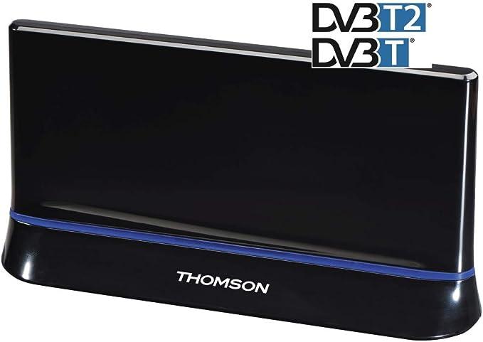 Thomson Ant1538 Zimmer Antenne Für Tv Radio Hdtv 3d Dvb T Dvb T2 Aktiv Mit Signalverstärkung Performance 45 Heimkino Tv Video