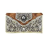 Best Style Wallets - Montana West Concho Collection Secretary Style Wallet (Brown) Review