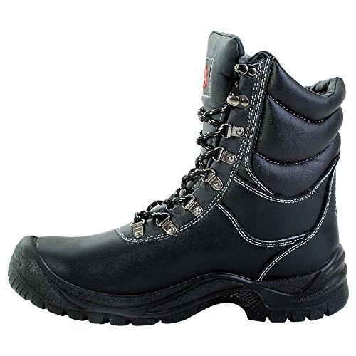 Seguridad de invierno botas de seguridad Magnus 8514 polar S3 CI botas de cordones de colour negro, Negro, 8514