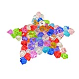 KAKOO Acrylic Ice Rocks 120 Pcs 25MM Crystals Treasure Gems Crystal Scatters for Vase Filler Table Wedding Decoration (Mixed)