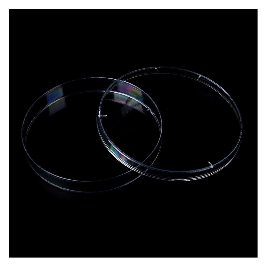 R TOOGOO 10PCS Sterile Plastic Petri Dishes PLATES Bacterial Yeast 90x15mm