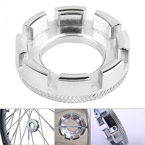 Oceaneshop Bicycle Cycling Repair Fix Tool Wheel Rim Nipple Key Spanner Bike Spoke Wrench 8 Groove