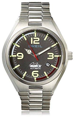 Breil Men's Quartz Stainless Steel Watch, Color:Gun (Model: TW1358)