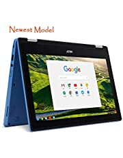 Acer R11 Convertible 2-in-1 Chromebook in Blue 11.6in HD Touchscreen Intel N3060 1.6Ghz up to 2.48GHz 4GB RAM 32GB SSD, Webcam, Bluetooth, Chrome OS (Renewed)
