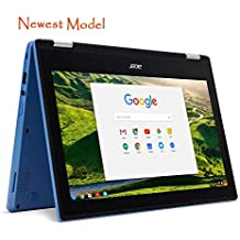 "Acer R11 Convertible 2-in-1 Chromebook in Blue 11.6"" HD Touchscreen Intel N3060 1.6Ghz up to 2.48GHz 4GB RAM 32GB SSD, Webcam, Bluetooth, Chrome OS (Certified Refurbished)"