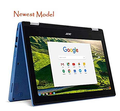 Acer R11 Convertible 2-in-1 Chromebook in Blue 11 6in HD Touchscreen Intel  N3060 1 6Ghz up to 2 48GHz 4GB RAM 32GB SSD, Webcam, Bluetooth, Chrome OS
