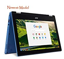 """Acer R11 Convertible 2-in-1 Chromebook in Blue 11.6"""" HD Touchscreen Intel N3060 1.6Ghz up to 2.48GHz 4GB RAM 32GB SSD, Webcam, Bluetooth, Chrome OS (Certified Refurbished)"""