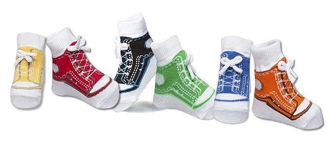 Baby Emporio 6 pares de calcetines para bebé niño - con diseño de zapatos-suelas antideslizantes - algodón- regalo recién nacido: Amazon.es: Ropa y ...