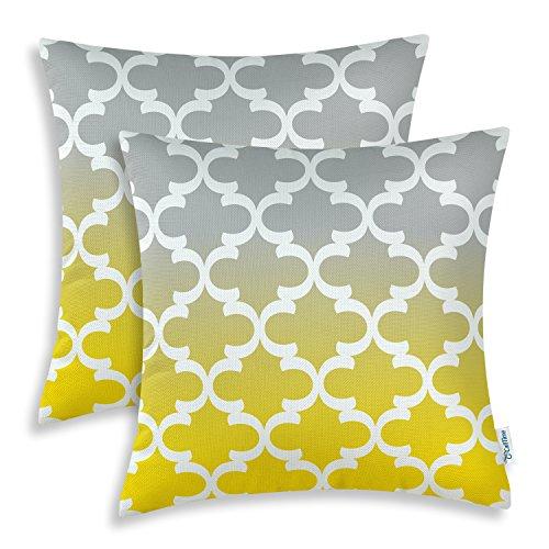 Geometric Fabric Yellow and Grey: Amazon.com