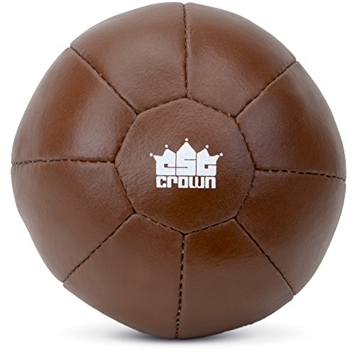 (Heavy Duty Brown Leather Medicine Ball - Choose Size! (3kg (6.6lbs)))