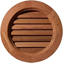 Ekena Millwork GVWRO20X2001SFUWR Unfinished, Functional, Smooth Western Red Cedar with 1-Inch x 4-Inch Flat Trim Round Gable Vent 25-Inch x 25-Inch Frame Size, 20-Inch x 20-Inch