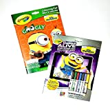 Crayola Color Alive Minions Bundled with Googly Eye Minions Colouring Pad (Bundle)