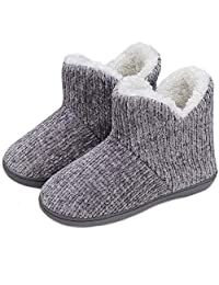 TUOBUQU Women Fuzzy Slipper Boots Warm Indoor Outdoor Winter Home Slippers