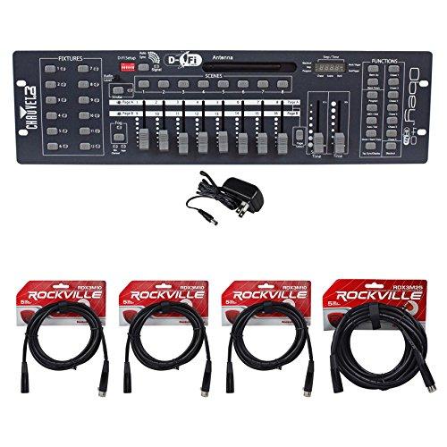 Chauvet DJ Obey 40 D-Fi 2.4 Wireless DMX Controller D-Fi & MIDI + (4) DMX Cables by Chauvet