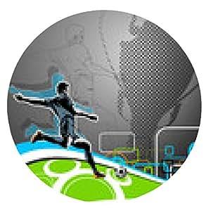 alfombrilla de ratón Jugador de fútbol - ronda - 20cm
