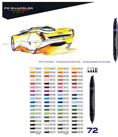 Prismacolor Marker Sets (Set of 72) 1 pcs sku# 1832977MA by Prismacolor