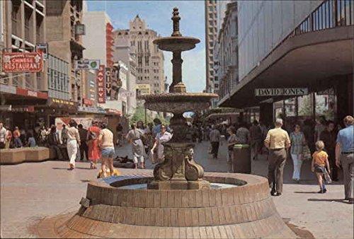 Rundle Mall Fountain Adelaide, Australia Original Vintage - Mall Adelaide