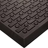 Wearwell Urethane 501 Rejuvenator Ultra Soft-Cell Anti-Fatigue Mat, for Dry Areas, 2' Width x 3' Length x 5/8'' Thickness, Black