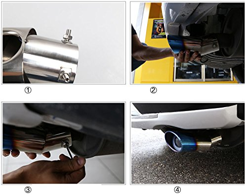 OEM 1pcs Stainless Steel Stainless Steel Curved Exhaust Muffler Tail Pipe Tip Tailpipe Extension Pipes Trim Custom Fit For Honda CRV CR-V 2009 2010 2011 2012 2013 2014 2015 2016 2017 2018