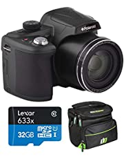$149 » Polaroid 18MP 50x Zoom Instant Digital Camera with 3-inch TFT (Black) IX5038-BLK-INT-4 Bundle w/Deco Gear Camera Bag Case + Lexar High-Performance 633x microSDHC/microSDXC UHS-I 32gb Memory Card