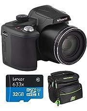 $149 » Polaroid 18MP 50x Zoom Instant Digital Camera with 3-inch TFT (Black) IX5038-BLK-INT-4 Bundle w/Deco Gear Camera Bag Case + Lexar High-Performance 633x microSDHC/microSDXC UHS-I 32gb Memory Card