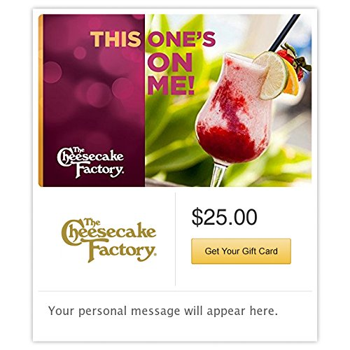 The Cheesecake Factory This One's on Me Gift Cards - E-mail Delivery