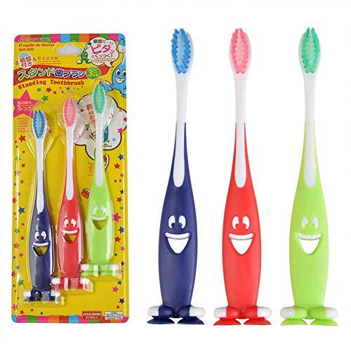 再発する今従う3ピース/パック子供歯ブラシ子供スマイル漫画歯ブラシ赤ちゃん柔らかい毛歯ブラシ歯科歯ブラシ、
