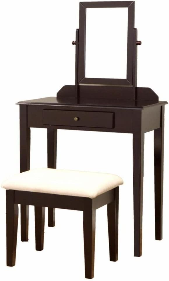 Top Discount Products Ltd Vanity Table Set Mirror Stool Bedroom Furniture Dressing Tables Makeup Desk Gift