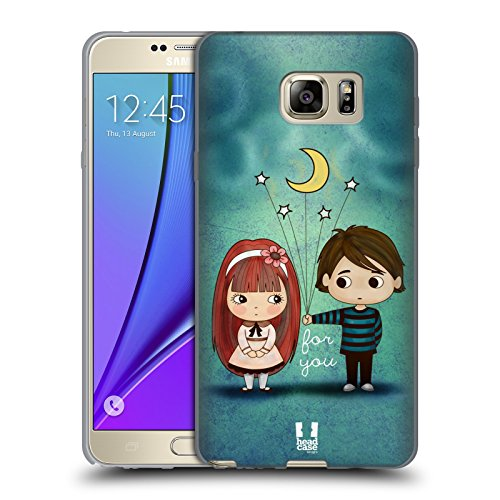 Head Case Designs Give You The Moon And Stars Cute Emo Love Soft Gel Case for Samsung Galaxy Note5 / Note (Emo Star)