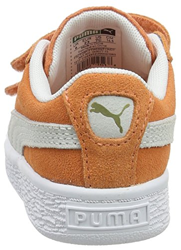 Fille Suede puma Sneakers Basses Melon Inf V Puma Classic Orange White wPz1dYxq