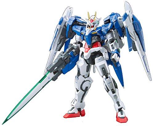 "Bandai Hobby Real Grade 1/144-Scale 00 Raiser Gundam 00"" Action Figure from Bandai Hobby"