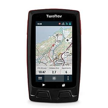 TwoNav Horizon Bike (Rojo) - GPS Full Connect para Ciclistas Extremos (Incluye Soporte Potencia y Mapa topográfico): Amazon.es: Electrónica