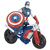 Marvel Avengers 6 Inch Deluxe Figure Captain America with Motorcycle