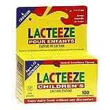 Lacteeze For Children Lactase Enzyme 100-Count