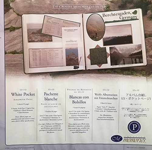 The Creative Memories Collection White Pocket Scrapbook Pages 12'' X 12'' (2004 Discontinued ORIGINAL SIZE)