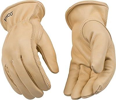Kinco 98-S-1 Full grain cowhide, Easy-On cuff with elastic wrist, Ergonomic keystone thumb, Turned leather hem, Size: S