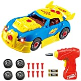 Take Apart Toy Racing Car Kit for Kids TG642 - Build Your Own Car Kit Construction Set (Version 3!!) - 30 Take-A-Part Pieces with Realistic Sounds & Lights by ThinkGizmos (Trademark Protected)