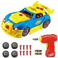 Gama de juguetes Think Gizmos Take Apart: construya su propio kit de juguetes para niños y niñas de edad 3 4 5 6 7 8 (Coche de carreras)