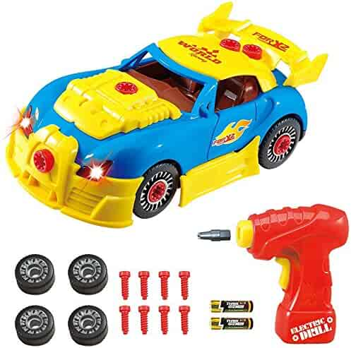 Think Gizmos Take Apart Toy Racing Car - Construction Toy Kit for Boys and Girls Aged 3 4 5 6 7 8 - Build Your Own Car Kit Updated Version 3 Exclusive to
