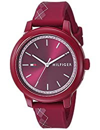 Tommy Hilfiger Women's 'EVERYDAY SPORT' Quartz Resin and Silicone Casual Watch, Color:Red (Model: 1781813)