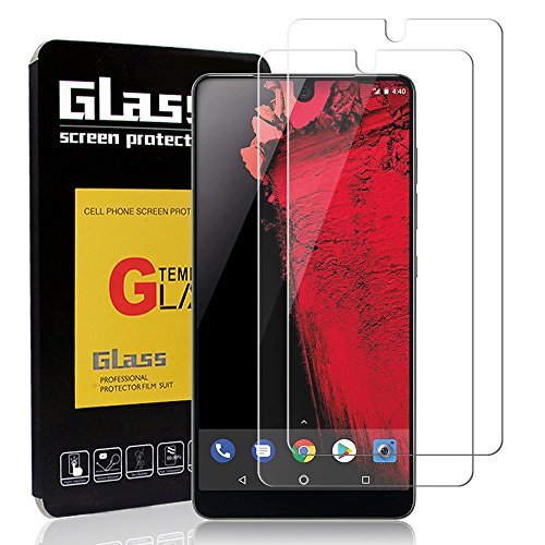 Kapoo [2 Pack] Essential Phone PH-1 Screen Protector, Bubble Free Ultra-thin 9H Hardness Crystal Clear Scratch Resistant Full Coverage Tempered Glass Screen Protector for Essential PH-1 Phone