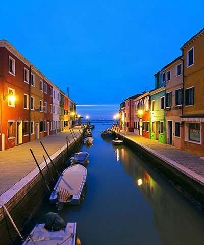 - Burano Canal Reflections At Dusk (08x10) Art Photography Print by Unknown (0100-01-01)