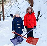 MnM-Home Extra Strong One Piece Construction, Kids/Toddler Plastic Snow - Beach sand Shovel. Two Set, Red-(girl) Blue-(boy).