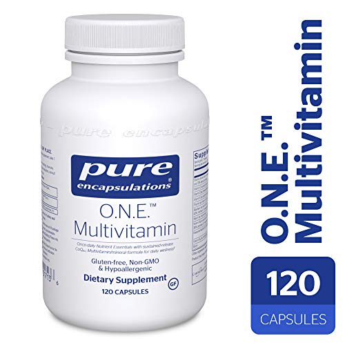 Pure Encapsulations – O.N.E. Multivitamin – Hypoallergenic Once-Daily Multivitamin w Sustained Release CoQ10-120 Capsules