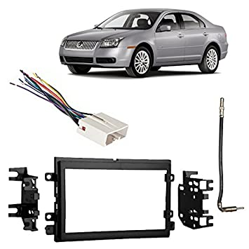 51qnSByIP8L._SY355_ amazon com fits mercury milan 2006 2008 double din stereo harness  at bayanpartner.co