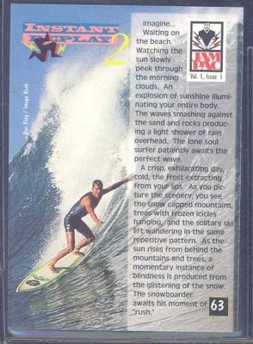1995 Jam Pac Magazine #63-64 Snowboarding Vs. Surfing - Mint Condition Ships in a Brand New Holder -