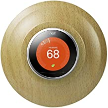Aobelieve Plastic Wall Plate for Nest Learning Thermostat, Wood Pattern